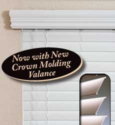 "2"" Faux Wood Blinds with Crown Molding"